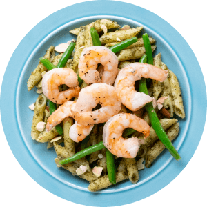 Shrimp and Pesto Penne